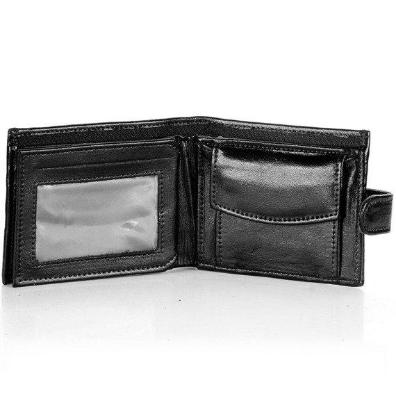 Skórzany portfel męski P153 czarny