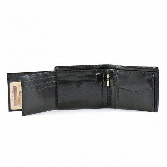 Skórzany portfel męski PAOLO PERUZZI GA180 czarny