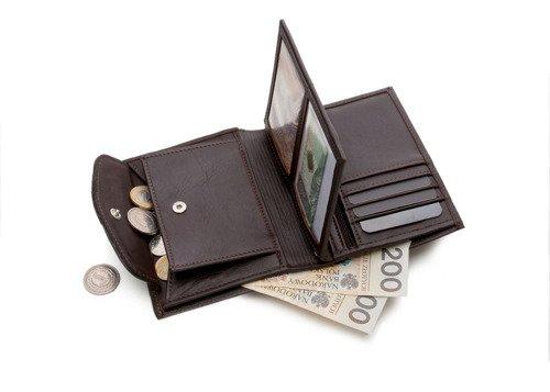 Skórzany portfel męski SOLIER SW09 brązowy