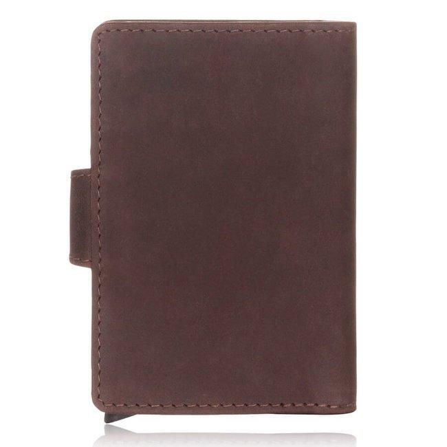 Skórzany portfel męski c.brązowy RFID Paolo Peruzzi RFID IN-69-BR