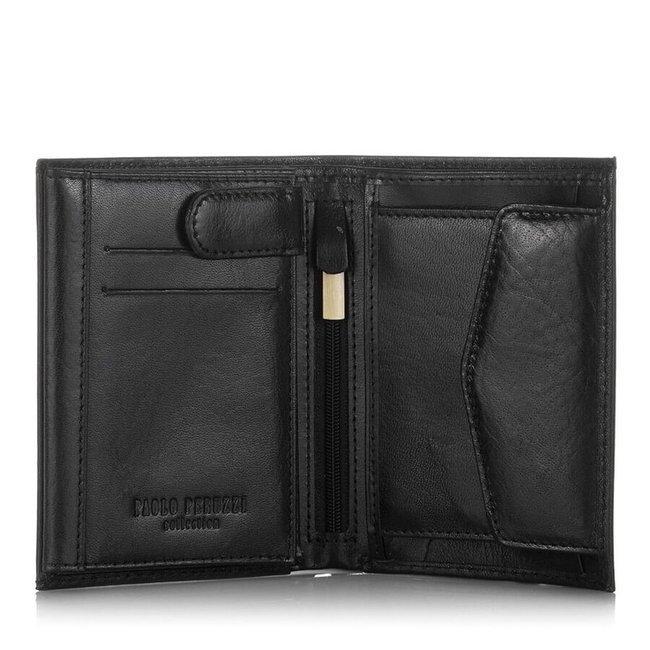 Skórzany portfel męski czarny Paolo Peruzzi GA326