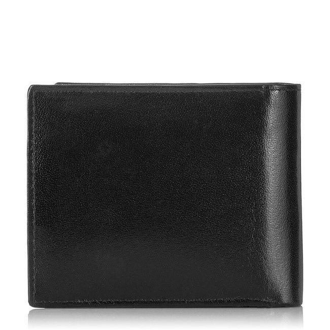 Skórzany portfel męski czarny Paolo Peruzzi S-15-BL