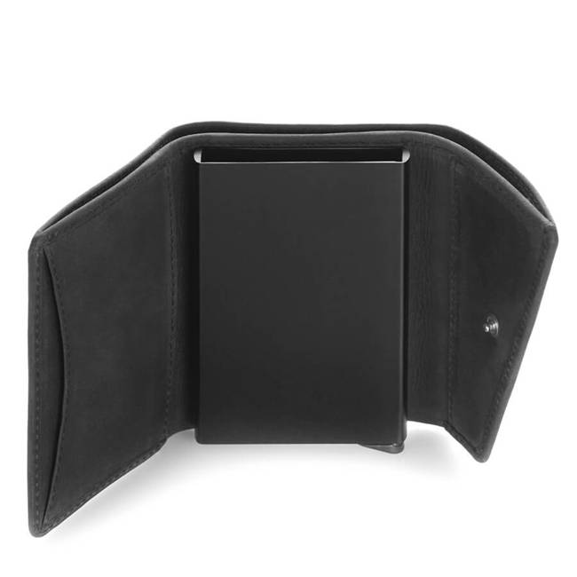 Skórzany portfel męski czarny RFID Paolo Peruzzi IN-10-BL