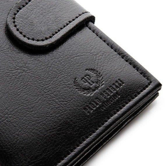 Skórzany portfel męskie PAOLO PERUZZI GA173 czarny