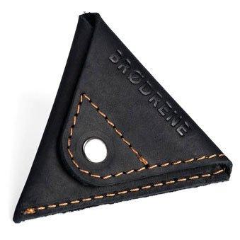 Skórzany zestaw portfel i bilonówka BRODRENE SW02 + CW01 czarny