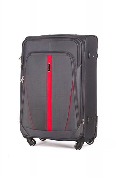 Średnia walizka miękka M Solier STL1706 szara