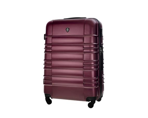 Średnia walizka podróżna M STL838 burgundowa