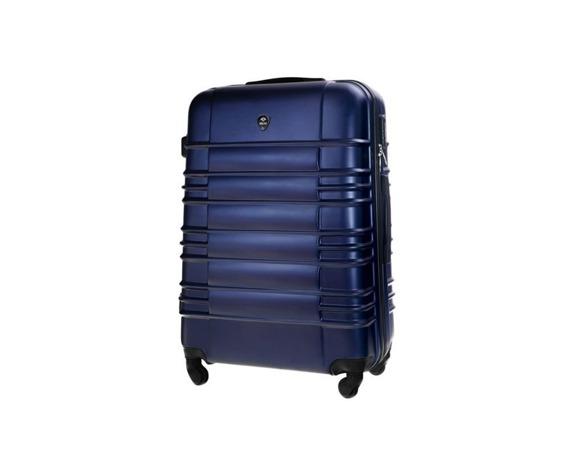 Średnia walizka podróżna M STL838 granatowa