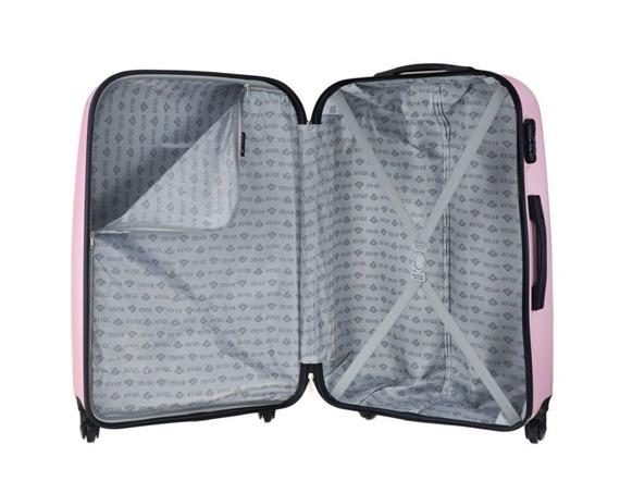 Średnia walizka podróżna STL856 różowa