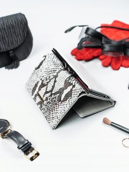 Stylowy portfel damski srebrny Cavaldi PL23-SN