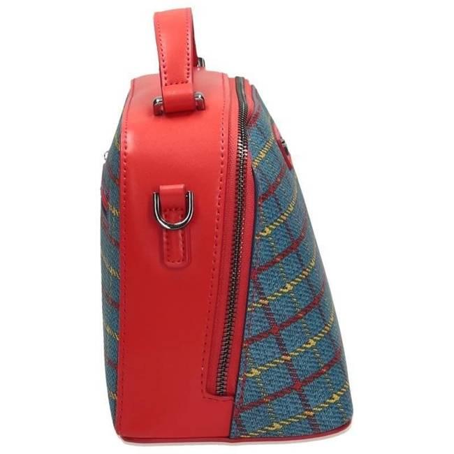 TOREBKA damska kuferek NOBO niebiesko-czerwona