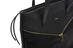 Torba damska shopper bag FELICE Verona Due czarna