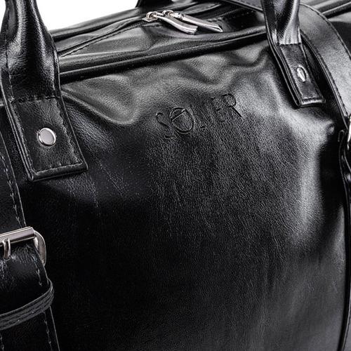 Torba męska podróżna weekendowa SOLIER S16 czarna