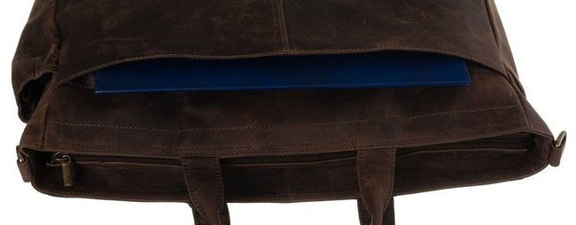 Torba na laptopa brązowa Badura LAP-15604-TGH-NL BRO