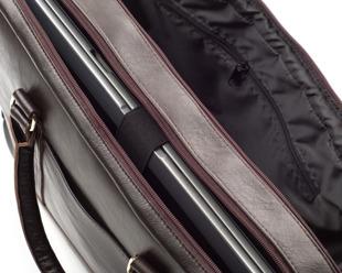 Torba skórzana na ramię, laptopa SOLIER brązowa