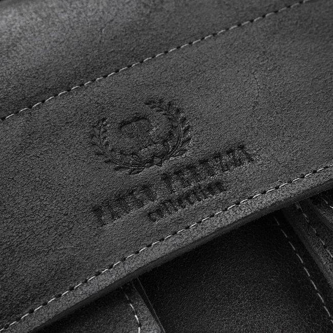 Torba teczka skórzana męska vintage Paolo Peruzzi 045-BL czarna