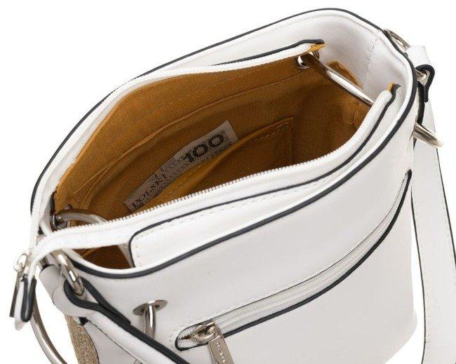Torebka damska koszyk biała David Jones CM5746