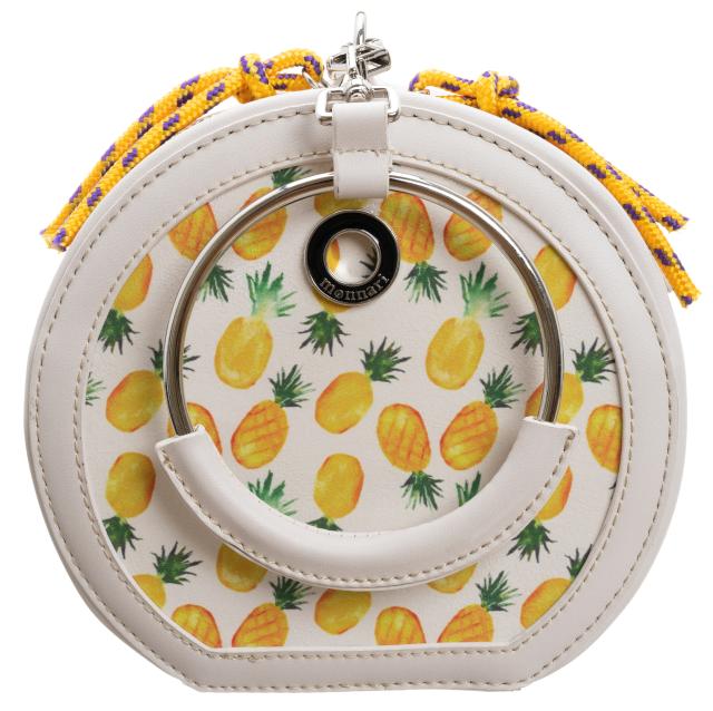 Torebka damska kuferek w ananasy Monnari 1650 biała
