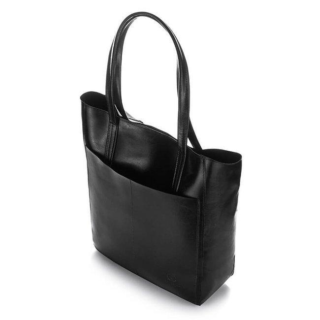 Torebka damska shopper bag czarna Paolo Peruzzi Z-35