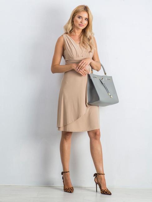 Torebka damska shopper bag skórzana Rovicky szara TM-025 GRAY
