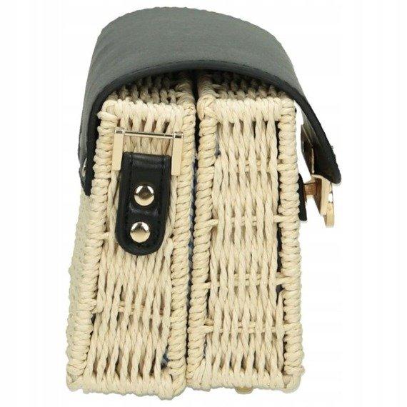 Torebka damska wiklinowy kuferek NOBO NBAG-XG0180-CM15 czarny