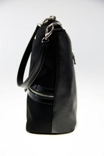 Torebka damska worek shopper MILTON ML11 czarna