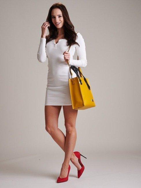 Torebka damska z kosmetyczką żółta Badura T_D011MS_CD