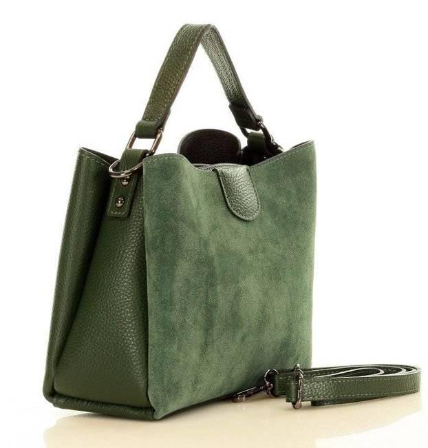 Torebka damska zielona MARCO MAZZINI L221e