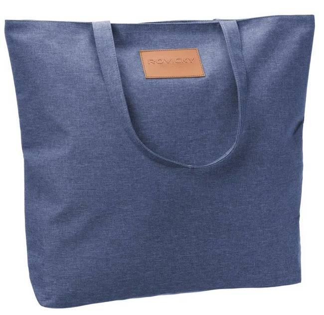 Torebka ekologiczna shopperka tekstylna A4 Rovicky niebieska
