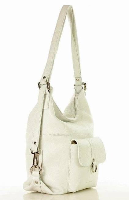 Torebka plecak 2w1 MARCO MAZZINI biały s116y