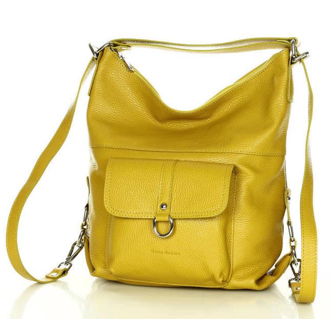 Torebka plecak 2w1 żółta MARCO MAZZINI s116d