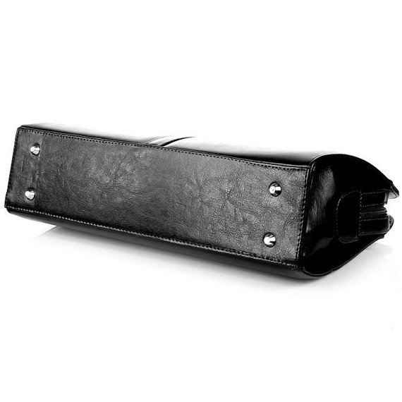 Torebka skórzana damska klasyczna DAN-A T144 czarna