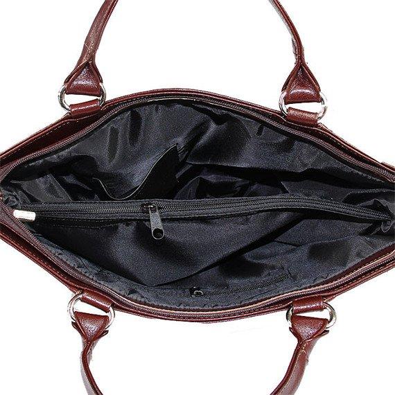Torebka skórzana damska kuferek DAN-A T208A koniakowa