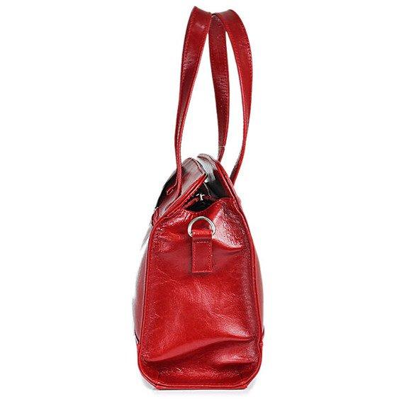 Torebka skórzana damska kuferek DAN-A T244 czerwona