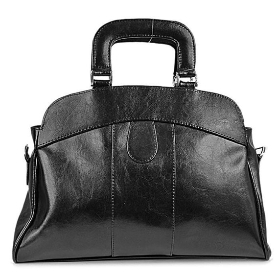 Torebka skórzana damska kuferek DAN-A T25 czarna