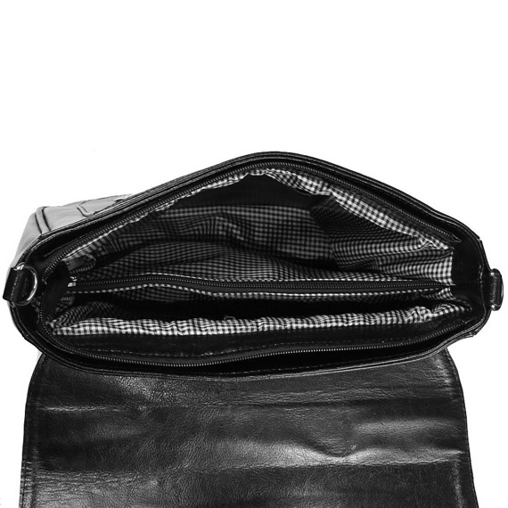 Torebka skórzana damska kuferek DAN-A T409 czarna