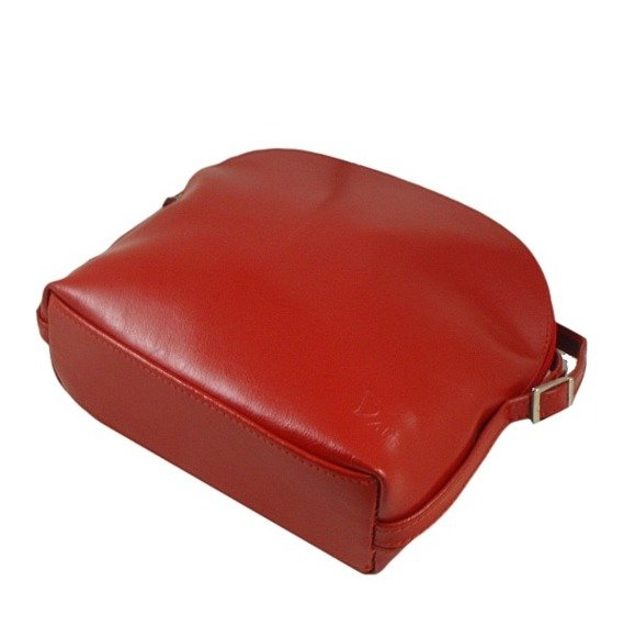 Torebka skórzana damska listonoszka DAN-A T155 czerwona