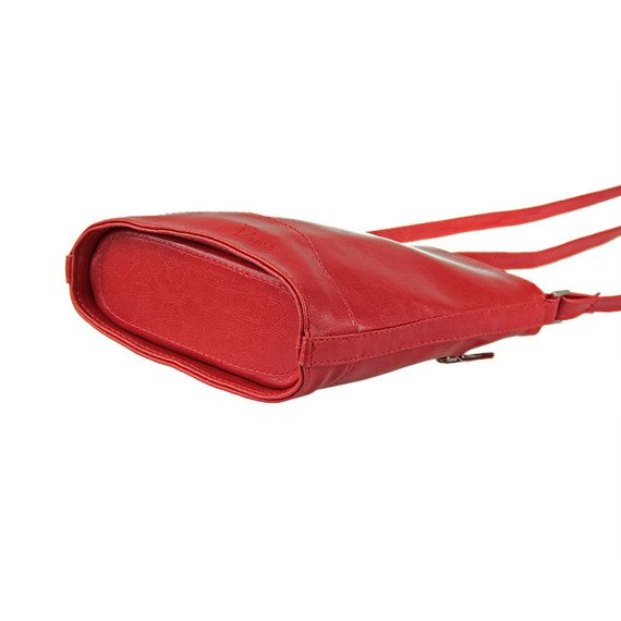 Torebka skórzana damska listonoszka DAN-A T210 czerwona