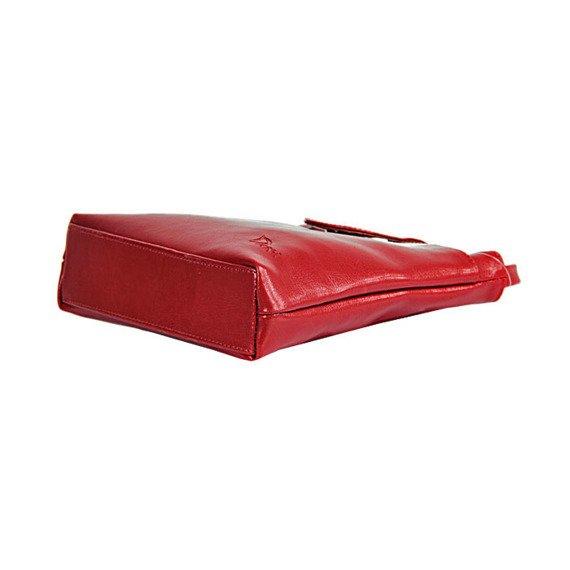 Torebka skórzana damska listonoszka DAN-A T236 DAN-A czerwona