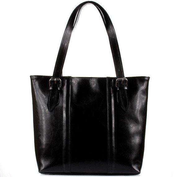 Torebka skórzana elegancka DAN-A T251 czarna