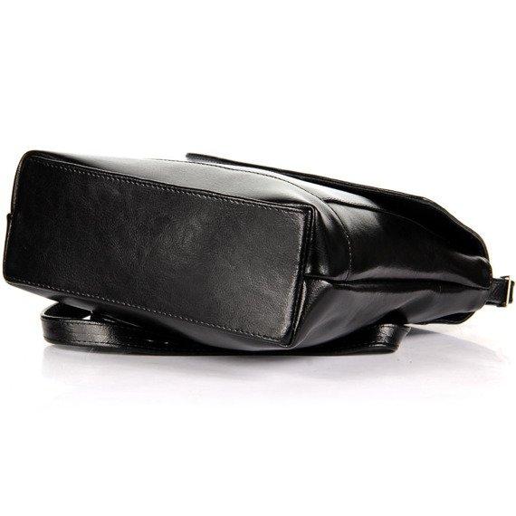 Torebka skórzana listonoszka DAN-A T250 czarna