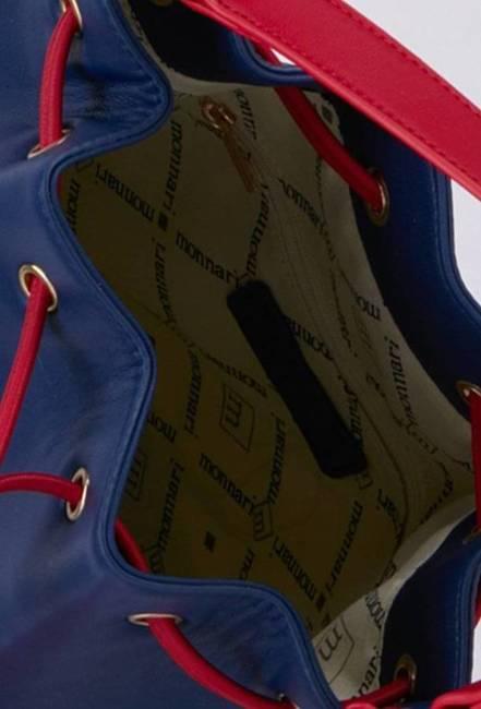 Worek z saszetką granatowo-czerwony Monnari BAG1030-013