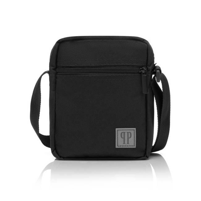 Zestaw czarny PAOLO PERUZZI plecak J-05 + saszetka J-04 ZUP-12-BL