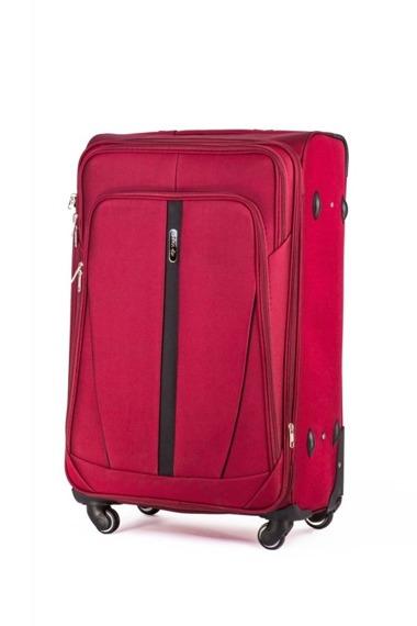 Zestaw walizek miękkich Solier STL1706 czerwony