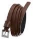 Pasek damski skórzany Rovciky PDR-1 brązowy